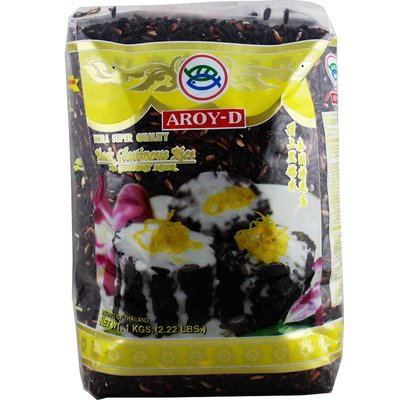 Aroy-D Zwarte Ketan Rijst 1kg
