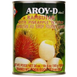 Aroy-d Rambutan with Pineapple in Syrup