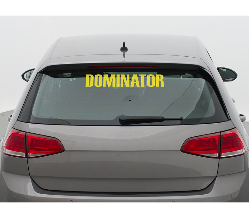 DOMINATOR CAR STICKER