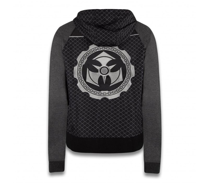 DOMINATOR NYLON ZIP SWEATER BLACK