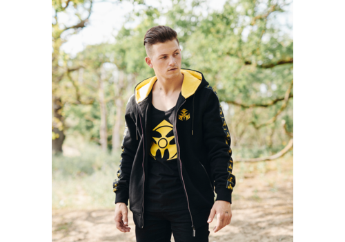 Dominator Dominator hooded zip black/yellow tape