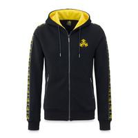 Dominator hooded zip black/yellow tape