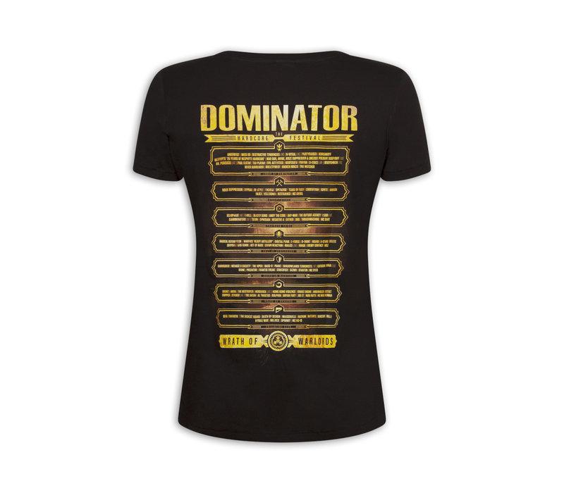 DOMINATOR LINE UP T-SHIRT BLACK