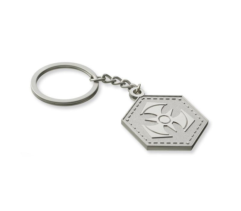 Dominator metal keychain