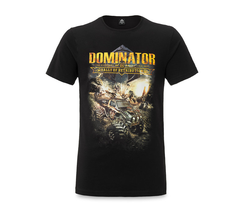 Dominator line up t-shirt black