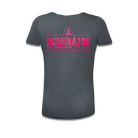 DOMINATOR T-SHIRT ANTHRACITE/PINK
