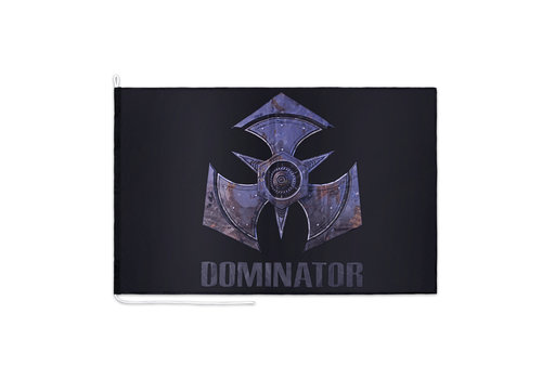 Dominator DOMINATOR FLAG BLACK METAL LOGO