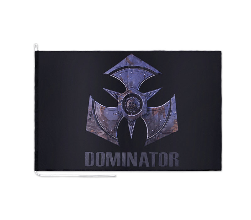 DOMINATOR FLAG BLACK METAL LOGO