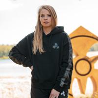 Dominator hoodie black/tape