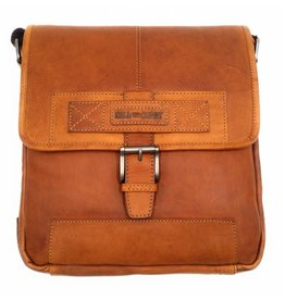 Hill Burry Hill Burry - VB10023 -2089 - real leather - Shoulder -crossbodytas- firm - vintage leather brown / cognac