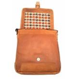 Hill Burry Hill Burry - VB10023 -2089 - Echtleder - Schulter -crossbodytas- Firma - Vintage-Leder braun / cognac