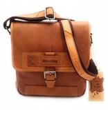 Hill Burry Hill Burry – VB10023 -2089 - echt leren - schoudertas –crossbodytas- stevig - vintage leder- bruin /cognac