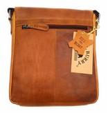 Hill Burry Hill Burry - VB10096 - 3161- genuine leather - shoulder bag - crossbodytas- firm - vintage leather brown / cognac