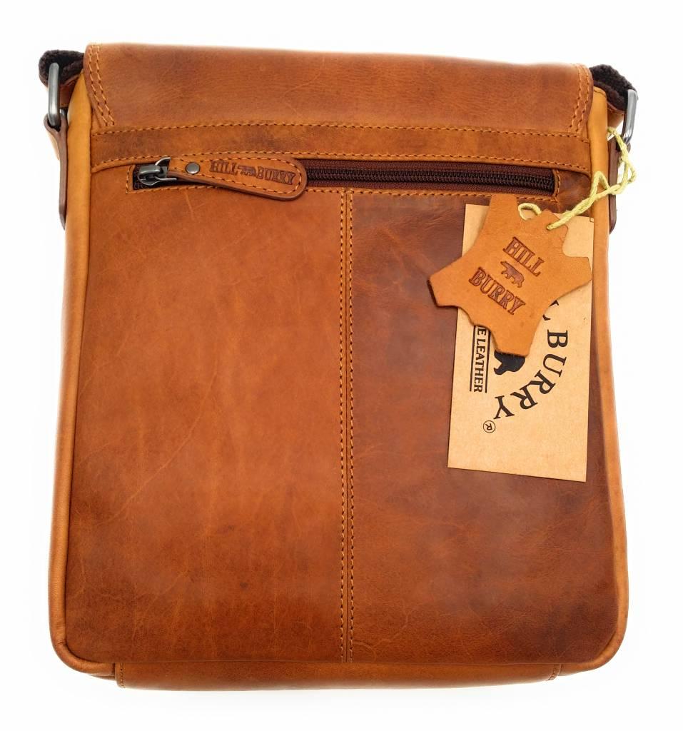 Hill Burry Hill Burry - VB10096 - 3161- echtes Leder - Schultertasche - crossbodytas- Firma - Vintage-Leder braun / cognac