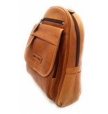 Hill Burry Hill Burry – VB10045 - 3109 - echt leren - dames - rugzak - stevig - chique - uitstraling - vintage leder- bruin /cognac