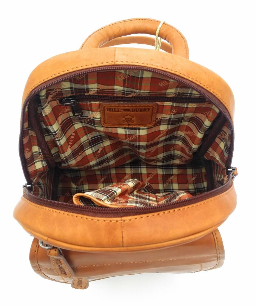 Hill Burry Hill Burry - VB10045 - 3109 - Echtleder - Frauen - Rucksack - fest - chic - Aussehen - Vintage-Leder braun / cognac