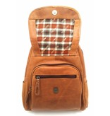 Hill Burry Hill Burry - VB10045 - 3109 - real leather - women - Backpack - firmly - chic - appearance - vintage leather brown / cognac