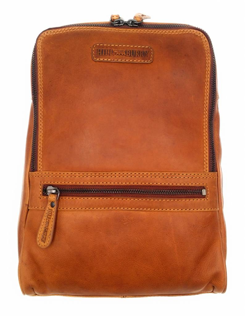 Hill Burry Hill Burry - VB10018 -2399 - real leather - women - Backpack - firmly - chic - appearance - vintage leather brown / cognac
