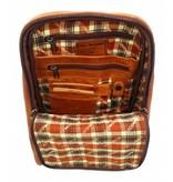 Hill Burry Hill Burry – VB10018 -2399 - echt leren - dames - rugzak - stevig - chique - uitstraling - vintage leder- bruin /cognac