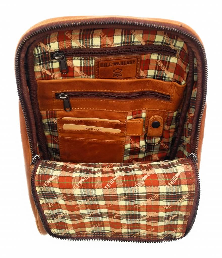 Hill Burry Hill Burry - VB10018 -2399 - Echtleder - Frauen - Rucksack - fest - chic - Aussehen - Vintage-Leder braun / cognac