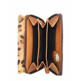 Hill Burry Hill Burry - VL77703 - 13092 - Leder Reißverschluss Geldbörse - braun / Tiger-Print
