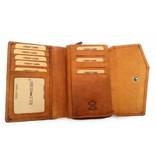 Hill Burry Hill Burry - VL77703 - 13092 - Leder Reißverschluss Geldbörse - braun / cognac