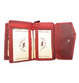 Hill Burry Hill Burry - VL77703 - 13092 - leather zipper wallet - red