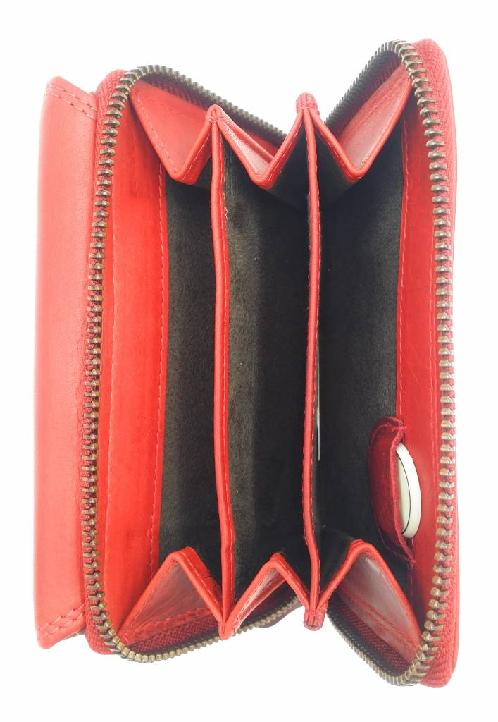 Hill Burry Hill Burry - VL77703 - 13092 - Leder Reißverschluss Geldbörse - red