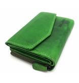 Hill Burry Hill Burry - VL77703 - 13092 - leather zipper wallet - green