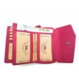 Hill Burry Hill Burry - VL77703 - 13092 - Leder Reißverschluss Geldbörse - pink - rosa