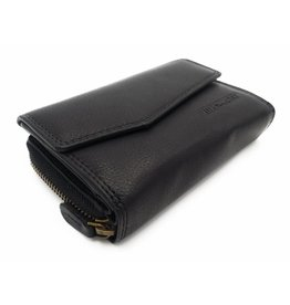 Hill Burry Hill Burry - VL77703 - 13092 - leather zipper wallet - black