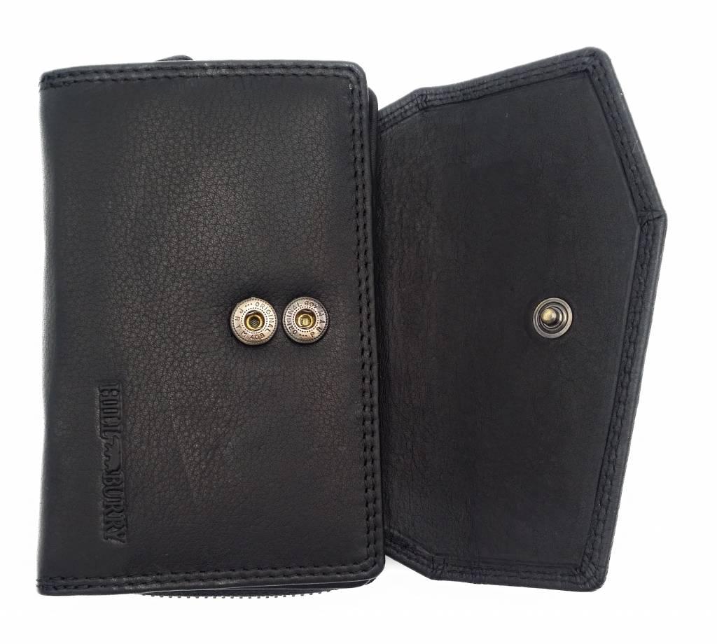 Hill Burry Hill Burry - VL77703 - 13092 - Leder Reißverschluss Geldbörse - schwarz