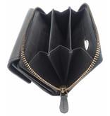 Hill Burry Hill Burry - VL77703 - 13092 - leather zipper wallet - black