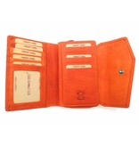 Hill Burry Hill Burry - VL77703 - 13092 - leather zipper purse - orange