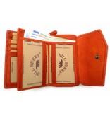 Hill Burry Hill Burry - VL77703 - 13092 - Leder Reißverschluss Geldbörse - Orange