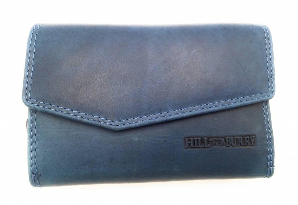 Hill Burry Hill Burry - VL77703 - 13092 - Leder Reißverschluss Geldbörse - blau