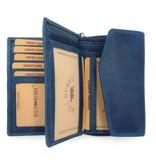 Hill Burry Hill Burry - VL77703 - 13092 - leather zipper wallet - blue