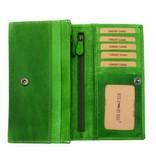 Hill Burry Hill Burry - VL77701 - L104 - Echt Leder - Damen - Brieftasche - Vintage-Leder-grün