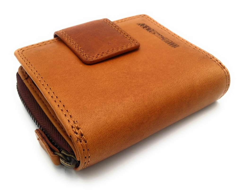Hill Burry Hill Burry - VL777012 - 5026 - genuine leather - wallet - zipper - Brown
