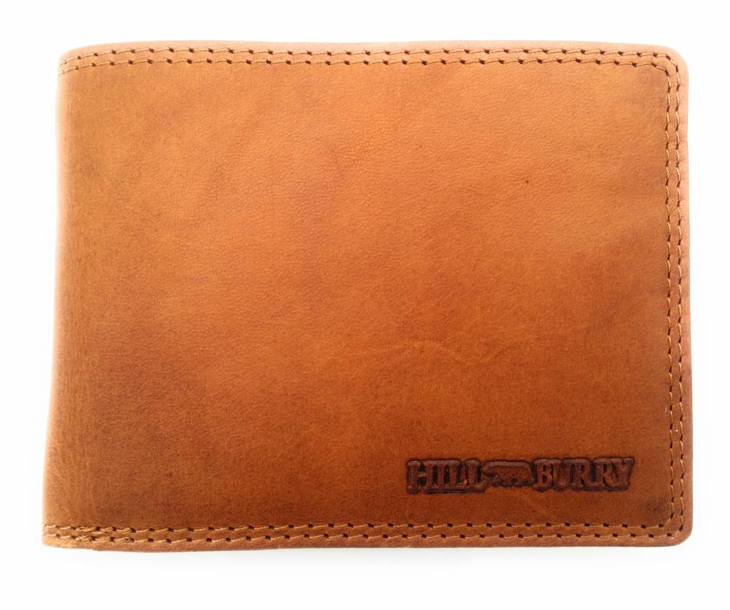 Hill Burry Hill Burry - V888100 - 5103W - genuine leather - men's wallet - brown / cognac