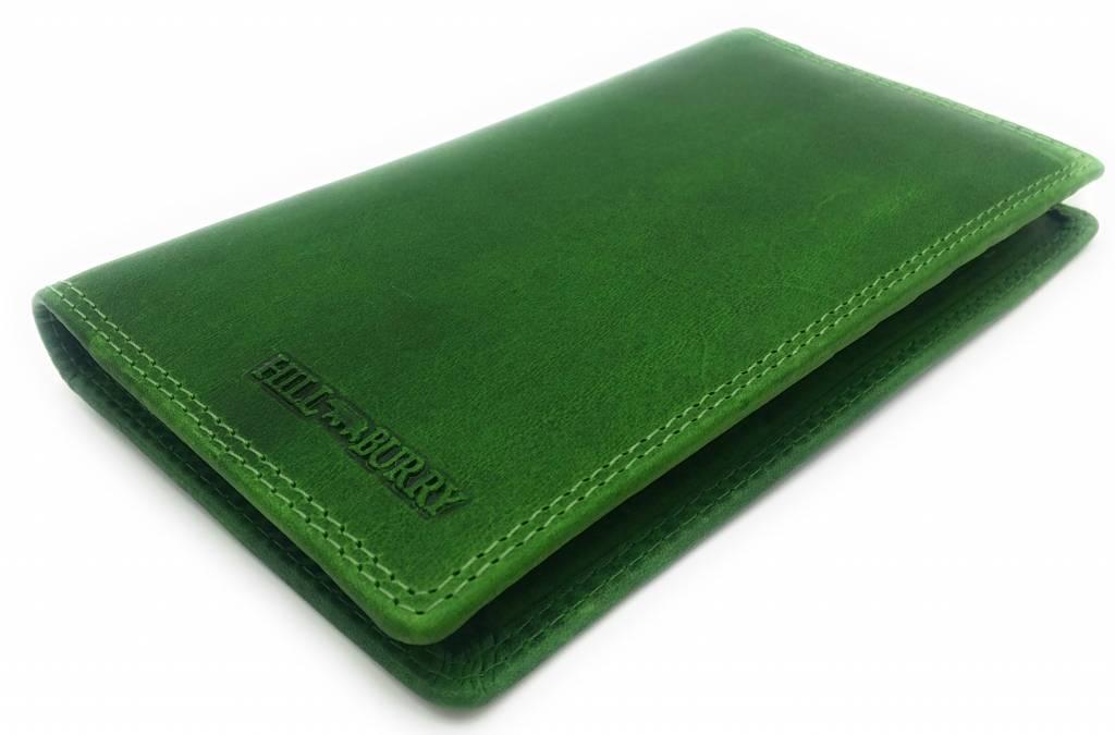 Hill Burry Hill Burry - VL777058¬ - 5157- Lederbrieftasche und Handytasche - grün
