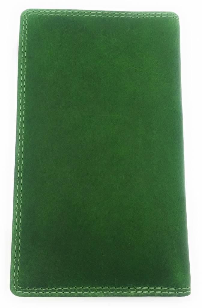 Hill Burry Hill Burry – VL777058¬ – 5157– leder portemonnee plus telefoonhoesje – groen