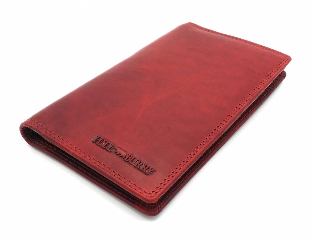 Hill Burry Hill Burry – VL777058¬ – 5157– leder portemonnee plus telefoonhoesje – rood
