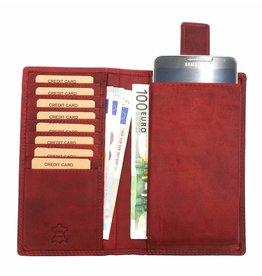 Hill Burry Hill Burry - VL777058¬ - 5157- Lederbrieftasche und Handytasche - rot