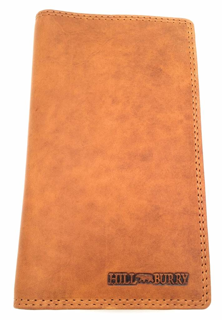 Hill Burry Hill Burry - VL777058¬ - 5157- leather wallet and phone pouch - brown - cognac