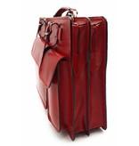 Italienischen Leder-Aktentasche Modell -201701- echtes Leder - rot