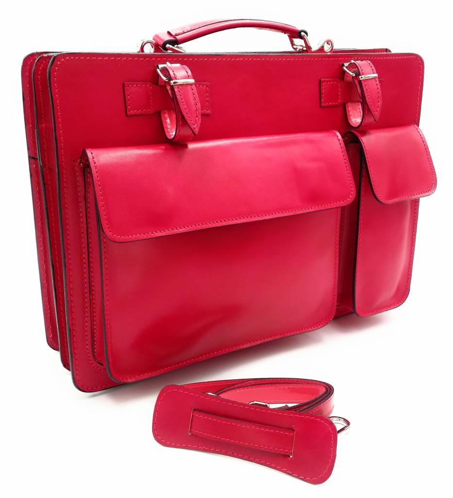 feec928da7d Italiaans leren aktetas model -201701- echt leder - roze - pink ...