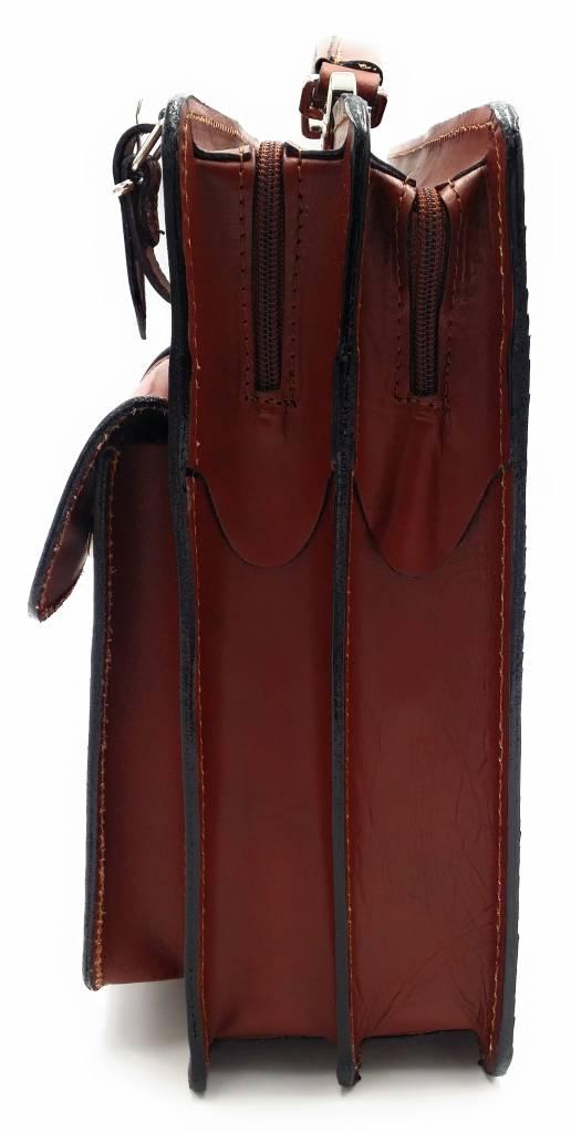 Italienischen Leder-Aktentasche Modell -201701- echtes Leder - hellbraun