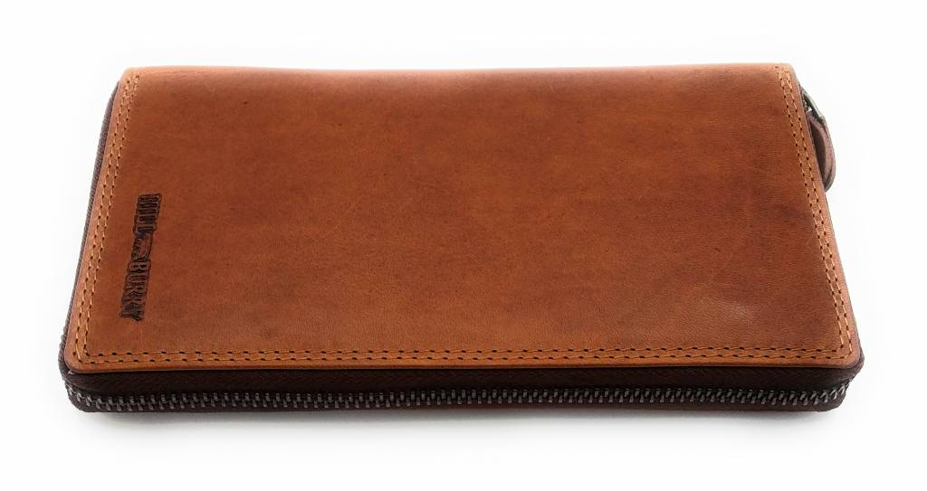 Hill Burry Hill Burry - VL77706 -2080 - really learn - big - ladies - leather zipper wallet - firmly - chic - appearance - Vintage leather brown