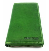 Hill Burry Hill Burry - VL77706 -2080 - really learn - big - ladies - leather zipper wallet - firmly - chic - appearance - vintage leather green